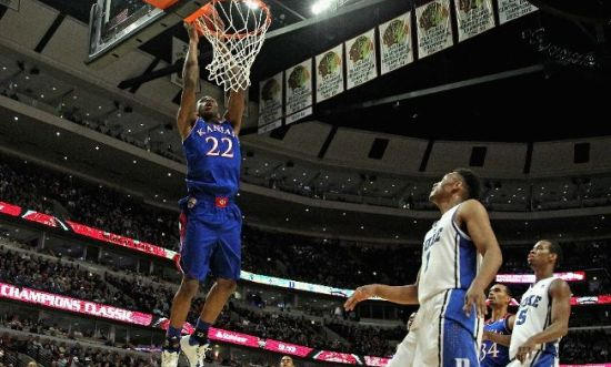 The outstanding play of Andrew Wiggins was just one of several highlights from the Champions Classic in Chicago. (AP)