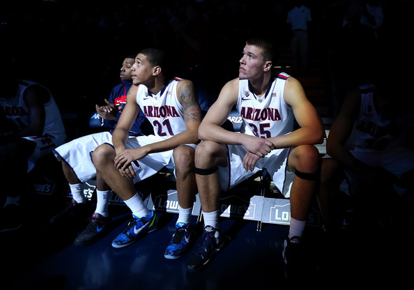 Brandon Ashley And Kaleb Tarczewski Help Make The Arizona Frontline An Intimidating One (Chris Petersen, Getty Images)