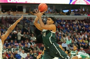 Gary Harris led Michigan State to No. 1 in the country and the Big Ten sits as the top conference early on, too. (Dennis Wierzbicki-USA TODAY Sports)