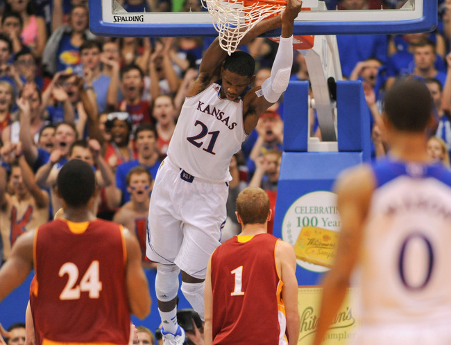 Don't expect Joel Embiid to be in Lawrence much longer. (Denny Medley-USA TODAY Sports)