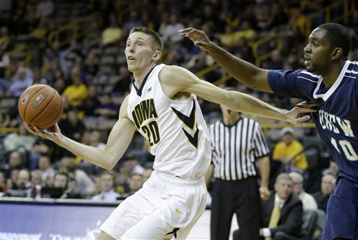 Iowa needs Jarrod Uthoff to have a big game in Bloomington Tuesday. (AP)