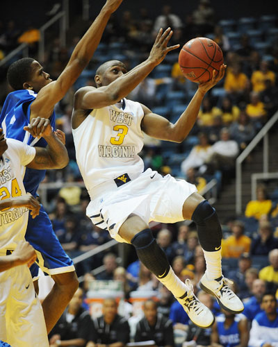 Juwan Staten is one of ten Big 12 players on the Wooden Award Preseason Top 50 watch list.