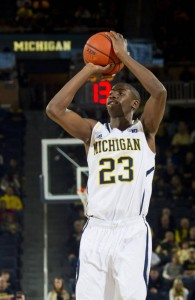 Michigan's Caris LeVert has come up big for Michigan so far this season.