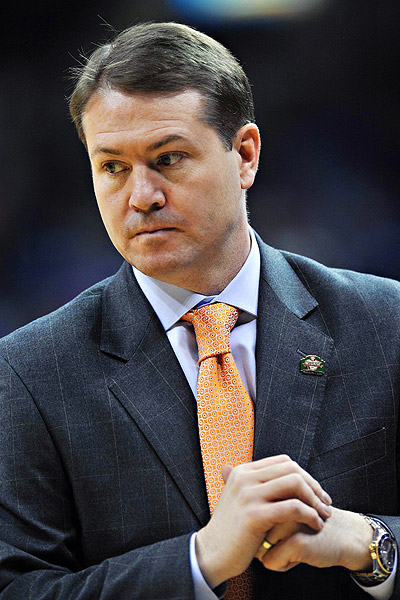 Oklahoma State head coach Travis Ford faces a strange but serious set of allegations claimed by former Cowboy guard Stevie Clark. (Mark D. Smith/US Presswire)