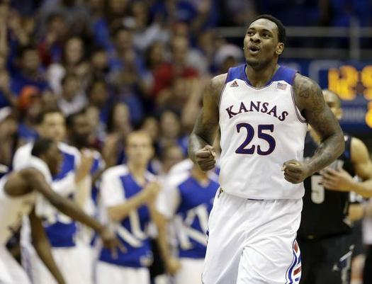 Tarik Black could be emerging for the Jayhawks just in time for conference play. (Charlie Riedel/AP)