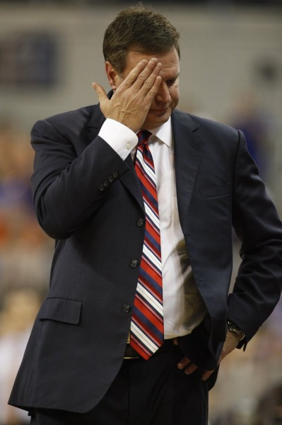A lackluster performance at Florida leaves Bill Self searching for answers (Photo: KUSports.com).