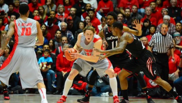 Cincinnati's swarming defense wasn't good enough to overcome New Mexico's efficient offense in a 63-54 loss Saturday. (GoLobos.com)