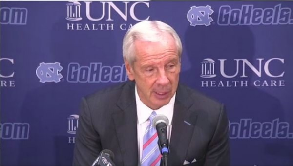 North Carolina Head Coach Roy Williams Was Not Pleased With His Team's Effort Against Texas (Photo: goheels.com)