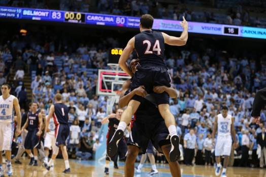 Belmont boosted its at-large resume with a shocking win at UNC. (Photo courtesy of chapelboro.com)