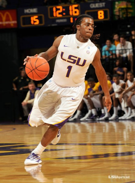LSU got a giant three from Anthony Hickey in the final seconds against Butler (photo courtesy sportsnola.com).