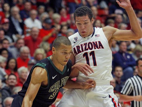 Freshman Aaron Gordon Modeling Arizona's Home Uniforms (credit: John Miller)