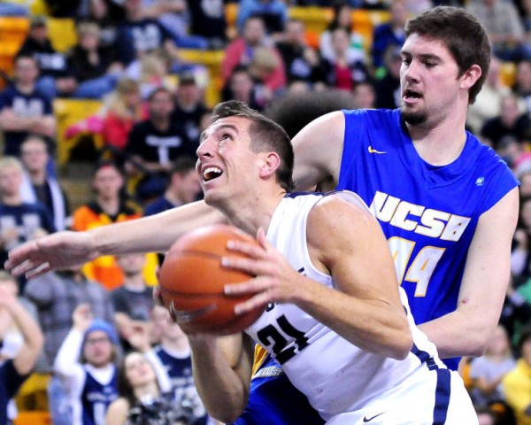 Spencer Butterfield Had A Career-High In Helping Utah State Knock Off UC Santa Barbara In Overtime (John Zsiray, AP Photo)