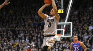 Junior Guard Askia Booker Shooting His Game-Winner To Upset Kansas In Boulder (credit: Pac-12)