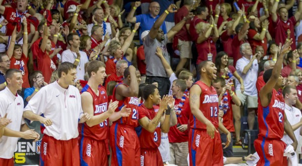 Dayton pulled off a stunner in Buffalo. (AP Photo/Eugene Tanner)