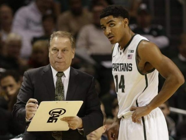 Gary Harris seemed to find his shooting stroke again in Michigan State's victory at Indiana.