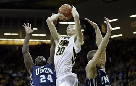 Jarrod Uthoff is the type of player who gets more accurate the more shots he puts up.