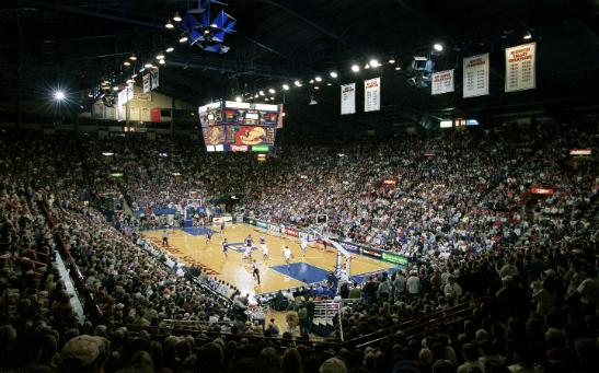 Phog Allen Fieldhouse Has Hosted Quite A Few Visitors Over The Years, But Never The Georgetown Hoyas. That Will Change On Saturday.