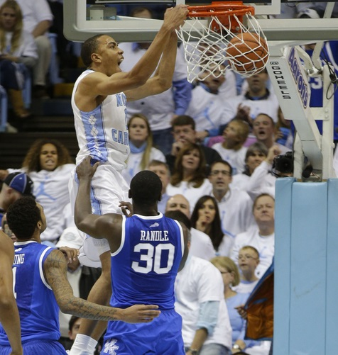UNC's Big Men Were Able to Outduel Kentucky's Tonight