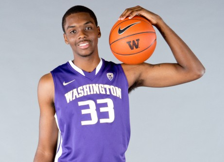 Sophomore Forward Jernard Jarreau Is All Smiles In The Classic Husky Uni (credit: University of Washington)
