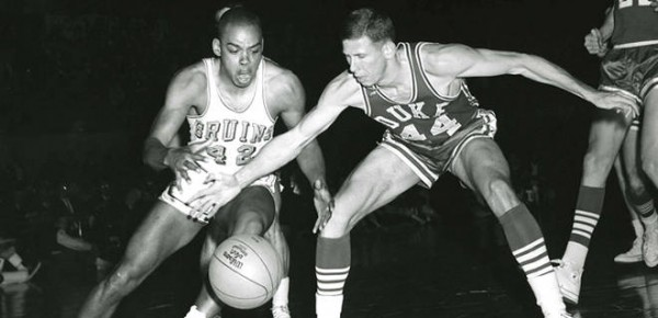 Walt Hazzard leads UCLA past Duke in the 1964 final at Municipal Auditorium. This was the first of many titles for John Wooden and UCLA (msn.foxsports.com).