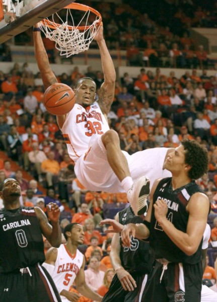 Littlejohn wants more K.J.! Leading the team in almost every statistical category, Clemson largely lives through #32 (Photo: Ken Ruinard)