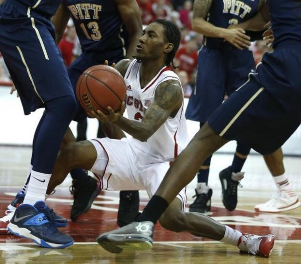 The Pitt Panthers Surround N.C. State's Anthony Barber During 74-62 Pitt Win. (Photo: Ethan Hyman, www.newsobserver.com)