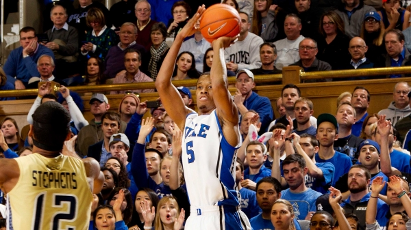 Rodney Hood Scores 27 Again As Duke Beats Georgia Tech (photo: www.goduke.com)