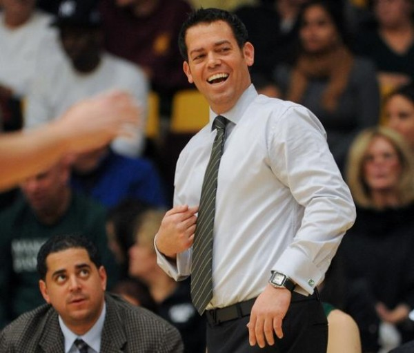 Steve Masiello has had many reasons to smile in the early part of 2013-2014. (RON ANTONELLI/NEW YORK DAILY NEWS)