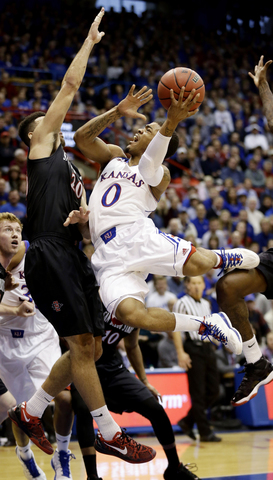 Frank Mason wasn't the only Jayhawk who had problems getting up quality shots. (AP Photo/Charlie Riedel)