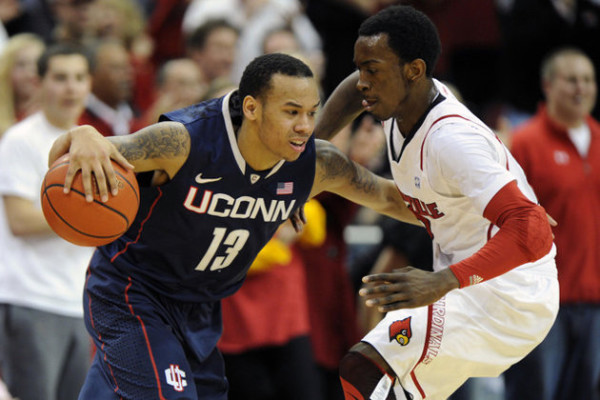 Shabazz Napier (left) and Russ Smith have been the two best players in the AAC this season, and they will square off Saturday night.
