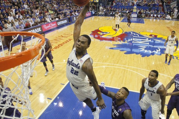 Andrew Wiggins handled the spotlight well in his first and only season at Kansas, despite an early tournament exit. (Nick Krug/KUSports.com)