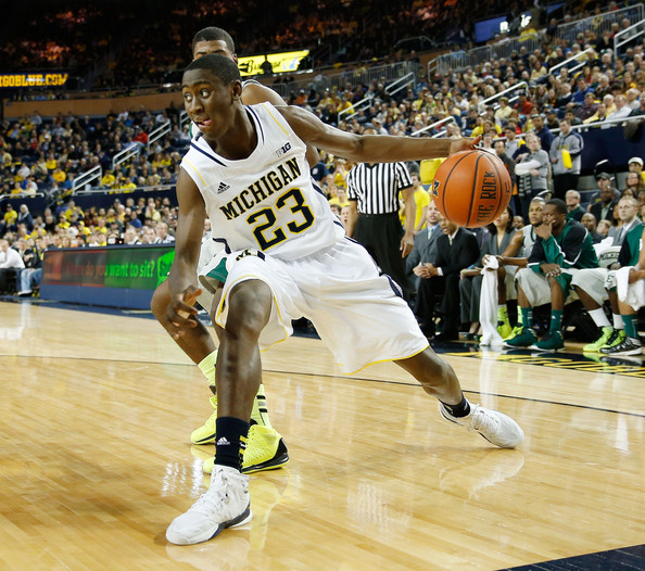 Caris LeVert played a an outstanding all-around game in their upset win at Wisconsin(Gregory Shamus, Getty).