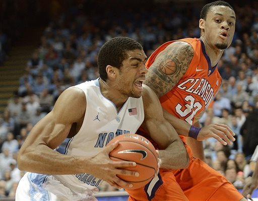 An Intense James Michael McAdoo Leads North Carolina to Dominant Win. (THE HERALD-SUN, BERNARD THOMAS — AP Photo)
