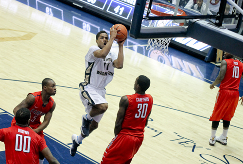 Kethan Savage's injury hurts George Washington's at-large chances. (Photo courtesy of The GW Hatchet).
