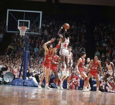 The 1974 Maryland-N.C. State ACC Championship Game Sparked Changes to NCAA Tourney. (photo courtesy of CNN Sports Illustrated and Sports Then and Now)