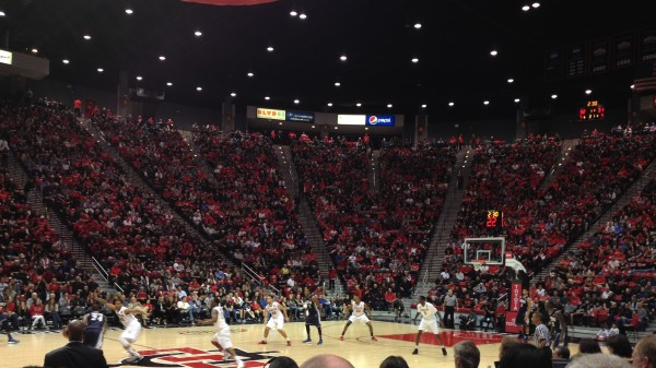 The Aztecs Apply Pressure While In The Midst Of A 7-0 Run To Close The First Half