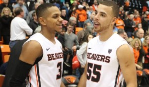 Cooke, left, and Roberto Nelson have led the Beavers to victory in four of their last five conference games. (Rockne Andrew Roll/RTC)