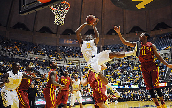 Winning at Hilton Coliseum has proven extremely difficult, but it may be necessary for Juwan Staten and West Virginia as they seek an NCAA Tournament bid. (WVUSports.com)