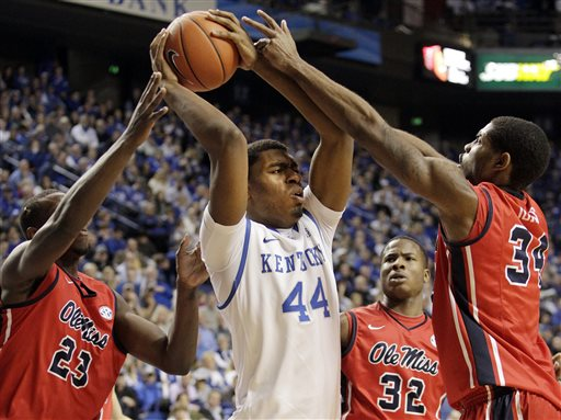 Dakari Johnson led Kentucky's rebounding feast against Grand Canyon with 13 boards (bigstory.ap.com).