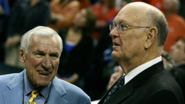 North Carolina's Dean Smith and Maryland's Lefty Driesell Were ACC Rivals For 17 Years. (Photo: Kevin C. Cox/Getty Images)