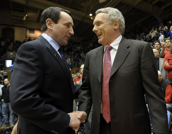 Mike Krzyzewski and Gary Williams Were Friends But Also Highly Competitive Rivals. (AP Photo)