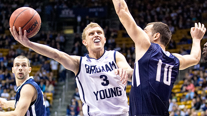 Tyler Haws and BYU are firmly on the bubble. (Jaren Wilkey-BYU Photo)