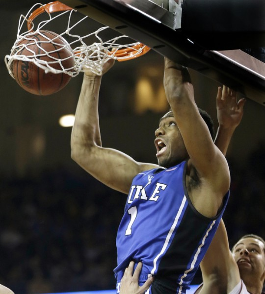 Jabari Parker has been great but Duke has some serious. (credit: Stephan Savoia / AP)