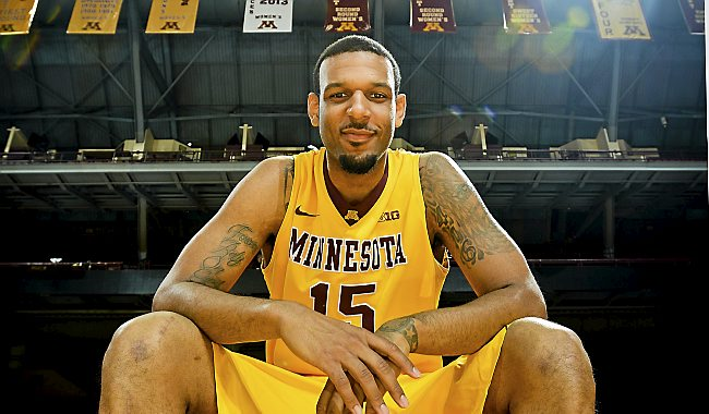 Maurice Walker has been a force in the post for Minnesota in their last 6 games.   (Pioneer Press: Ben Garvin)