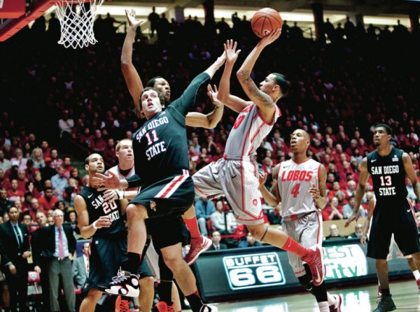 Kendall Williams and the Lobos  welcome San Diego State to the Pit on Saturday. (Eric Draper The Associated Press)