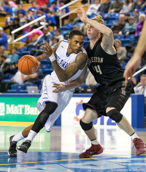 Davon Usher had a night to remember against College of Charleston last Wednesday. (Delaware Athletics)