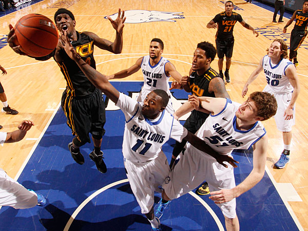The Billikens and Rams will battle in Richmond this time around. (AP Photo/St. Louis Post-Dispatch, Chris Lee)
