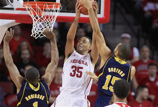 If the injury to Walter Pitchford is serious, Nebraska might have to cancel potential NCAA Tournament plans. (AP Photo/Nati Harnik)