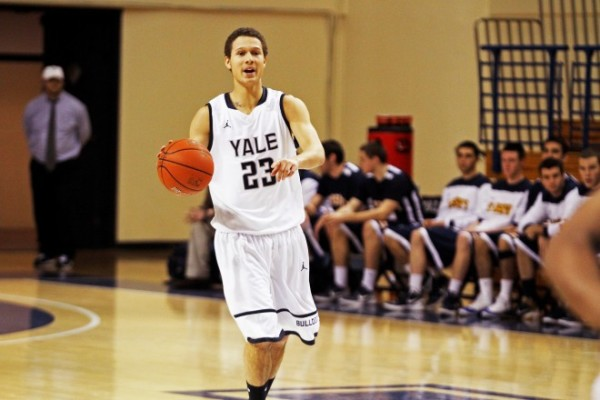 Not many foresaw Yale's upset of Harvard on Friday night. (Photo by Jacob Geiger.)