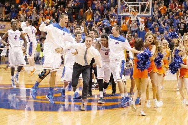 Boise State Had Plenty To Celebrate Saturday Evening After An Amazing Win Over UNLV (Otto Kitsinger, AP)